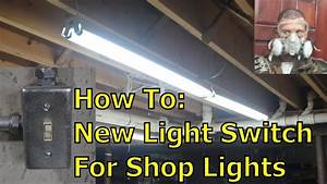 Installing New Switched Outlets For Shop Lights