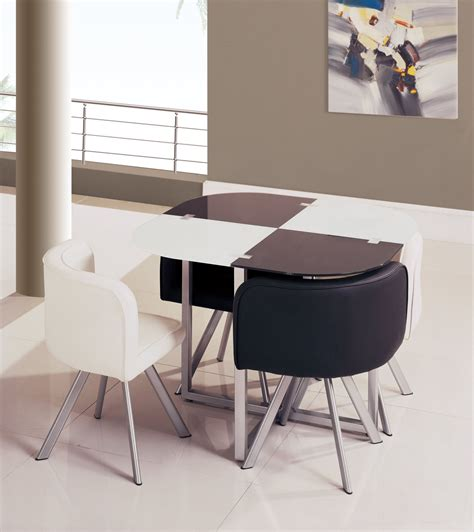 space saving end table space saver dining set homesfeed 5632