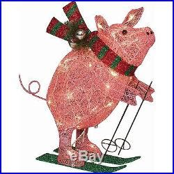 lighted pig lawn ornament christmas lighted decoration sculpture pig 22 yard indoor outdoor decor