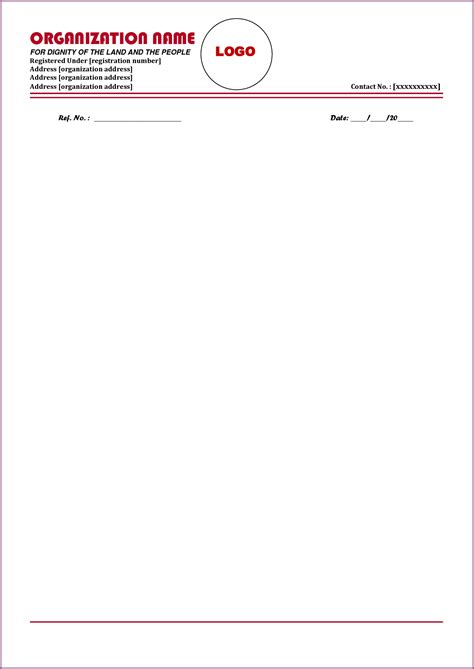 letterhead format designproposalexample sample business