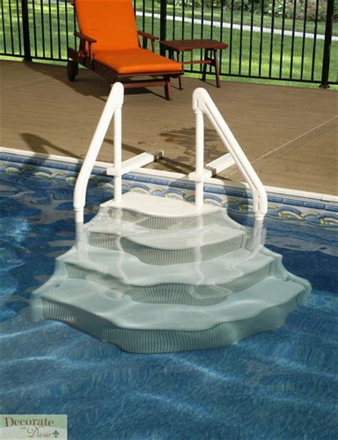 above ground pool ladder deck mounts decorate with
