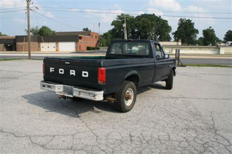 1994 Green Ford F 250 XL 5.8L V8 Single Cab, 8 ft Bed