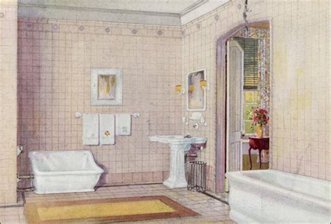1922 crane plumbing fixtures early english revival