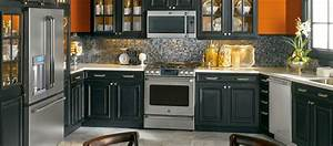 contemporary kitchen ideas with black appliances With kitchen designs with black appliances