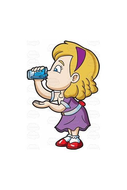 Drinking Water Clipart Glass Person Cartoon Clip