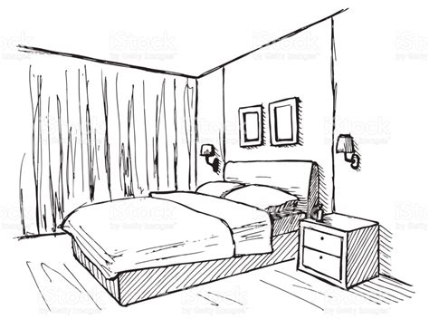 Drawing Of Bedroom by Bedroom Pencil And In Color Bedroom
