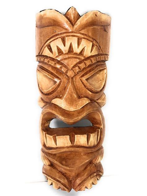 hawaiian kanaloa love tiki mask polynesian wall