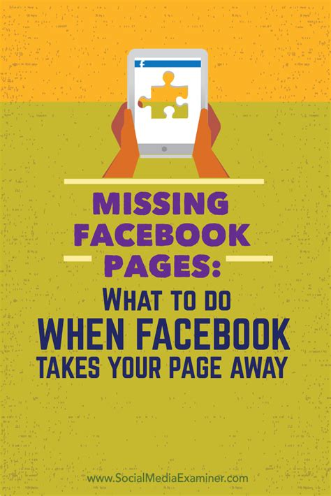 Missing Facebook Pages: What to Do When Facebook Takes ...