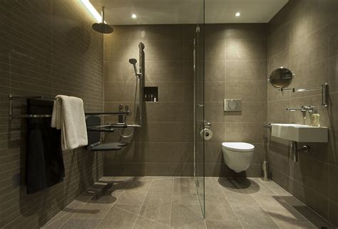 Accessible Bathroom Design by A Contemporary Accessible Bathroom Motionspot