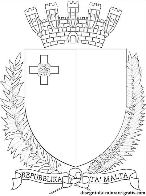 emblema  malta da colorare disegni da colorare gratis