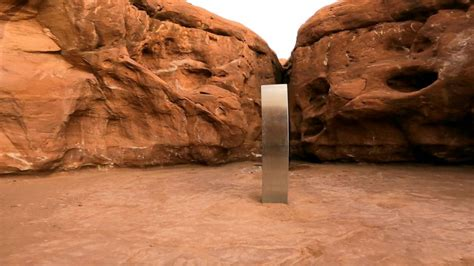 monolith discovered  utah mysteriously disappears