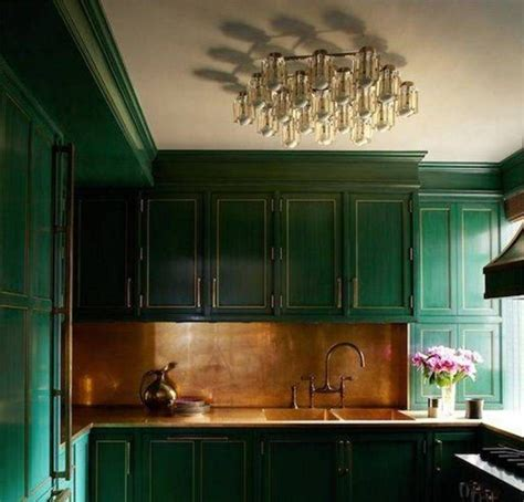 forest green kitchen color trend greens my country house 1045