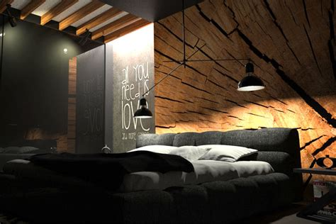 bedrooms for small rooms black bedroom with wood wall decor by oes architekci