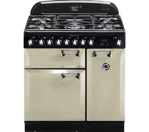 buy rangemaster elan 90 dual fuel range cooker chrome free delivery currys
