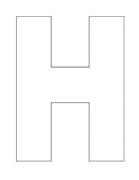 alphabet letter h template for alphabet preschool 660 | 77aa8d41d6b55cfb77310700d3bbd78f
