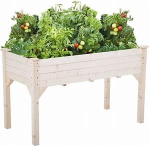 Garden, Raise, Bed, Elevated, Garden, Bed, Wood, Planter, Box, Kit, For, Vegetable, Flower, Outdoor, Yard