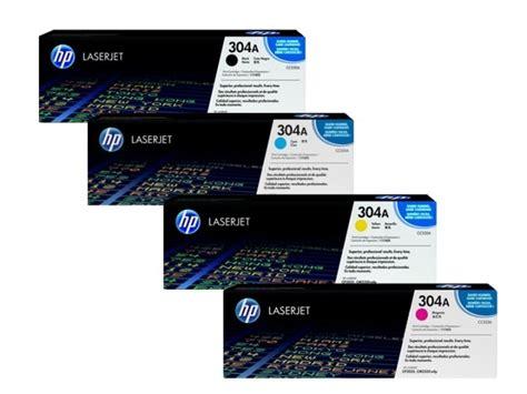 hp lj300 400 color mfp m375 m475 original hp 304a bk c m y laserjet toner cartridges cc530a