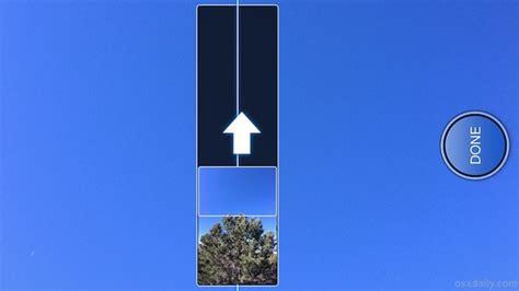 shoot vertical panorama   iphone