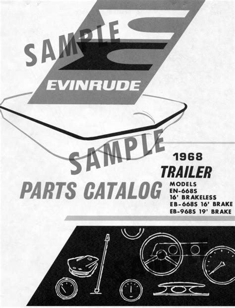 Boat Trailer Parts Catalog by Evinrude 16 Ft Boat And Trailer Parts Catalogs Iboats