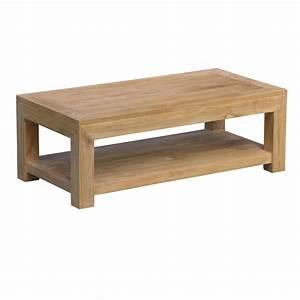Table De Salon Bois : table basse rectangulaire en teck 120x60x40cm lombok ~ Teatrodelosmanantiales.com Idées de Décoration