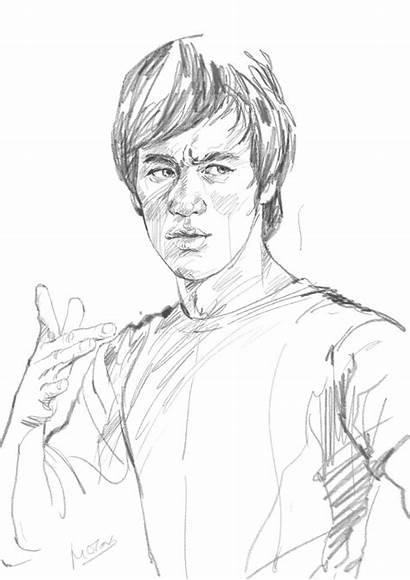 Bruce Lee Sketch Line Wong Milton Sketches