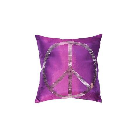 housse de coussin 40x40cm quot peace quot violet