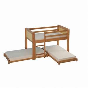 Lit Gain De Place : lit haut gain de place avec matelas millenium collectivites ~ Premium-room.com Idées de Décoration
