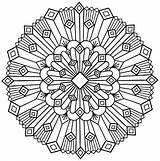 Mandala Simple Deco Coloring Mandalas Pages Adult sketch template