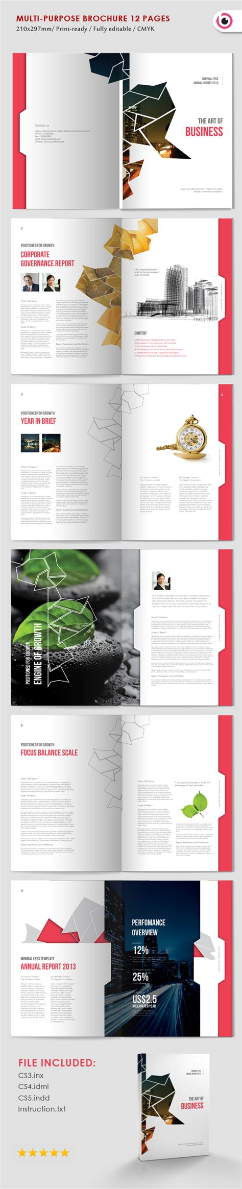 Multi Page Brochure Template by The Of Business On Behance