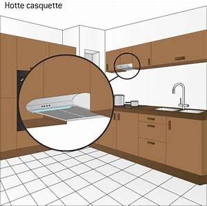 Hauteur Hotte Aspirante : hotte casquette ooreka ~ Carolinahurricanesstore.com Idées de Décoration