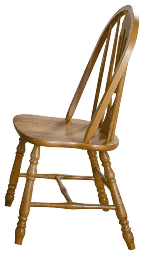 sweetheart side chair medium oak traditional dining
