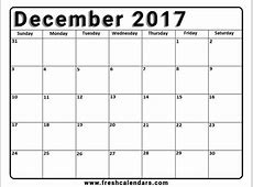 Images Of A Blank December Calendar – 2018 Calendar Template