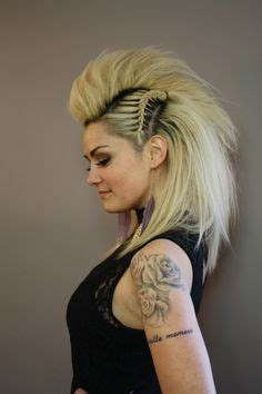 haircut in mohawk hairstyle with side braids hair and 5193