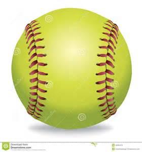 Softball Vector Clip Art