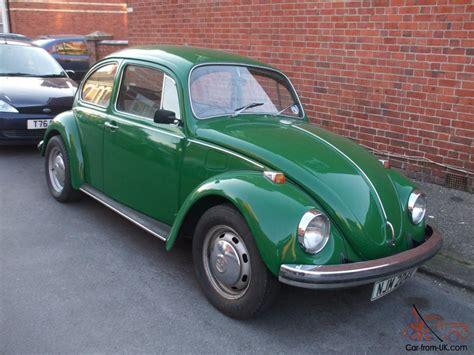 green volkswagen beetle classic vw beetle 1600 green tax exempt