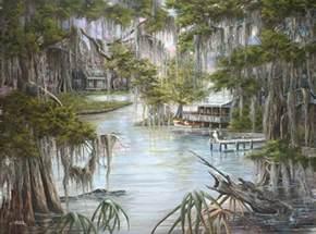 Louisiana Bayou Scene Paintings