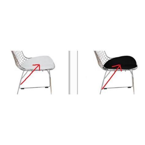 chaise bertoia blanche coussin bertoia de rechange blanc noir pour chaise wire