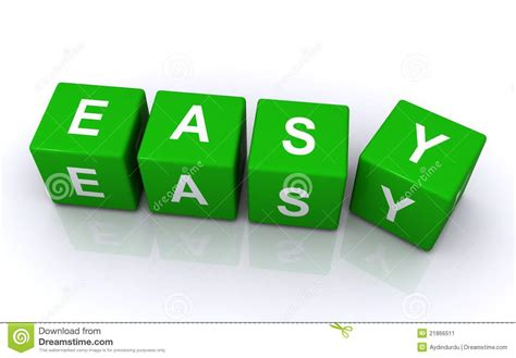 easy and blocks spelling word easy stock image image 21866511