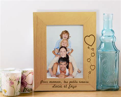cadre photo en bois grav 233 et personnalisable