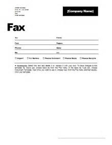 Word Fax Cover Letter Free Fax Cover Sheet