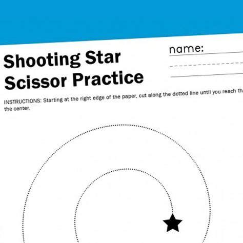 shooting star scissor worksheet  images fun