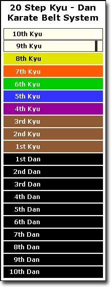 karate belt colors how are karate belts earned and what do karate belt colors