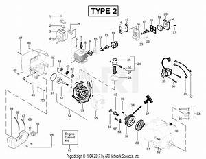 Poulan Featherlite Le Type 2 Parts Diagram For Engine