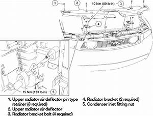 Car Parts Diagrams  2010 Ford Mustang Condenser Core Diagram