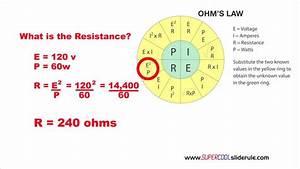 Ohm U0026 39 S Law Calculating Resistance Using The Ohm U0026 39 S Law Wheel
