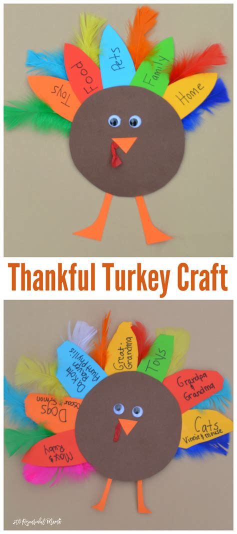 thanksgiving craft ideas for preschoolers thankful turkey kid craft and book the resourceful 932