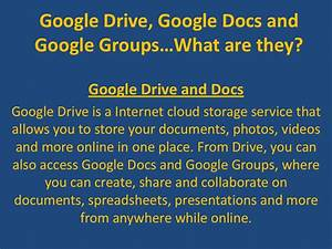 google drive google docs and With google docs or google drive