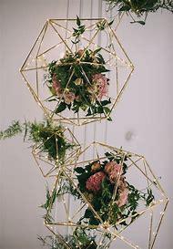Geometric Gold Wedding Centerpieces