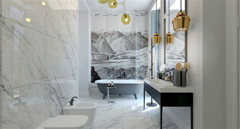 artistic bathroom modern meets classic interior design ideas