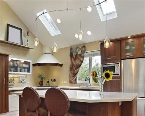 track lighting kitchen sloped ceiling lighting ideas for vaulted ceilings lighting ideas 8574